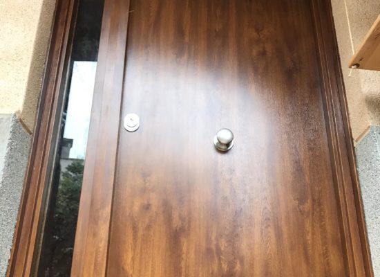 Puerta con fijo de cristal